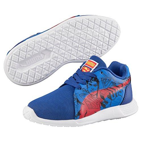 Puma ST Trainer Evo Superman PS - Zapatilla para niño, color azul, color azul (limoges-high risk red 01), talla 32 EU (13 UK)