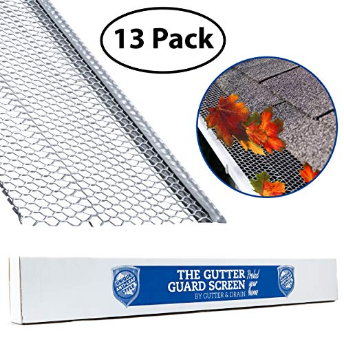 Ultimate Gutter Guard by Gutter&Drain |Ridged Mesh for Extra Protection | Premium Anti-Leaf Gutter Cover Prevents Clogged Downspouts | Easy DIY Installation & Weatherproof Design | 5