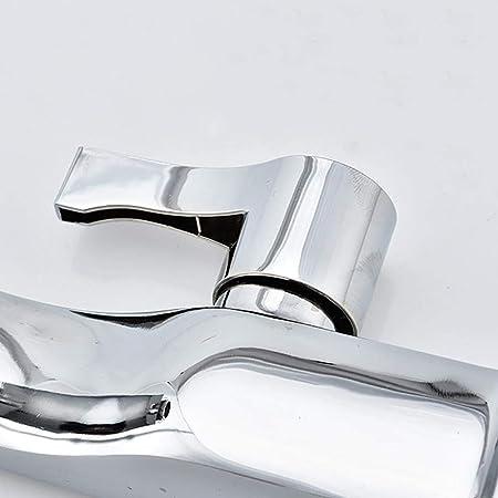 KETONG Cuenca Cara aleación Sencilla de Cobre de aseos Agujero de níquel válvula mezcladora Grifo grifos tocador: Amazon.es: Hogar