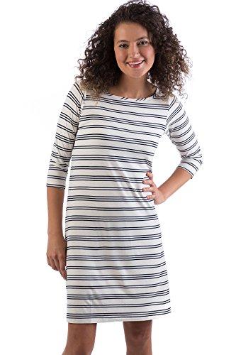 3 4 sleeve boatneck dress - 6
