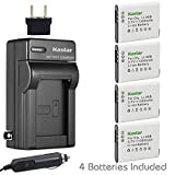 Kastar Battery (4-Pack) and Charger Kit for Olympus LI-90B, LI-92B, UC-90 work with Olympus SH-1, SH-50 iHS, SH-60, SP-100, SP-100EE, Tough TG-1 iHS, Tough TG-2 iHS, Tough TG-3, XZ-2 iHS Cameras