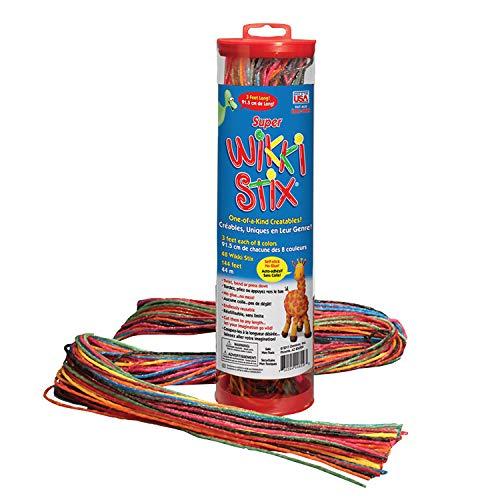 WikkiStix WKX809 Super 3' Long, Pack of 48, Yarn/Food Grade Wax