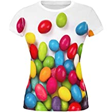Halloween Jelly Beans All Over Juniors T Shirt