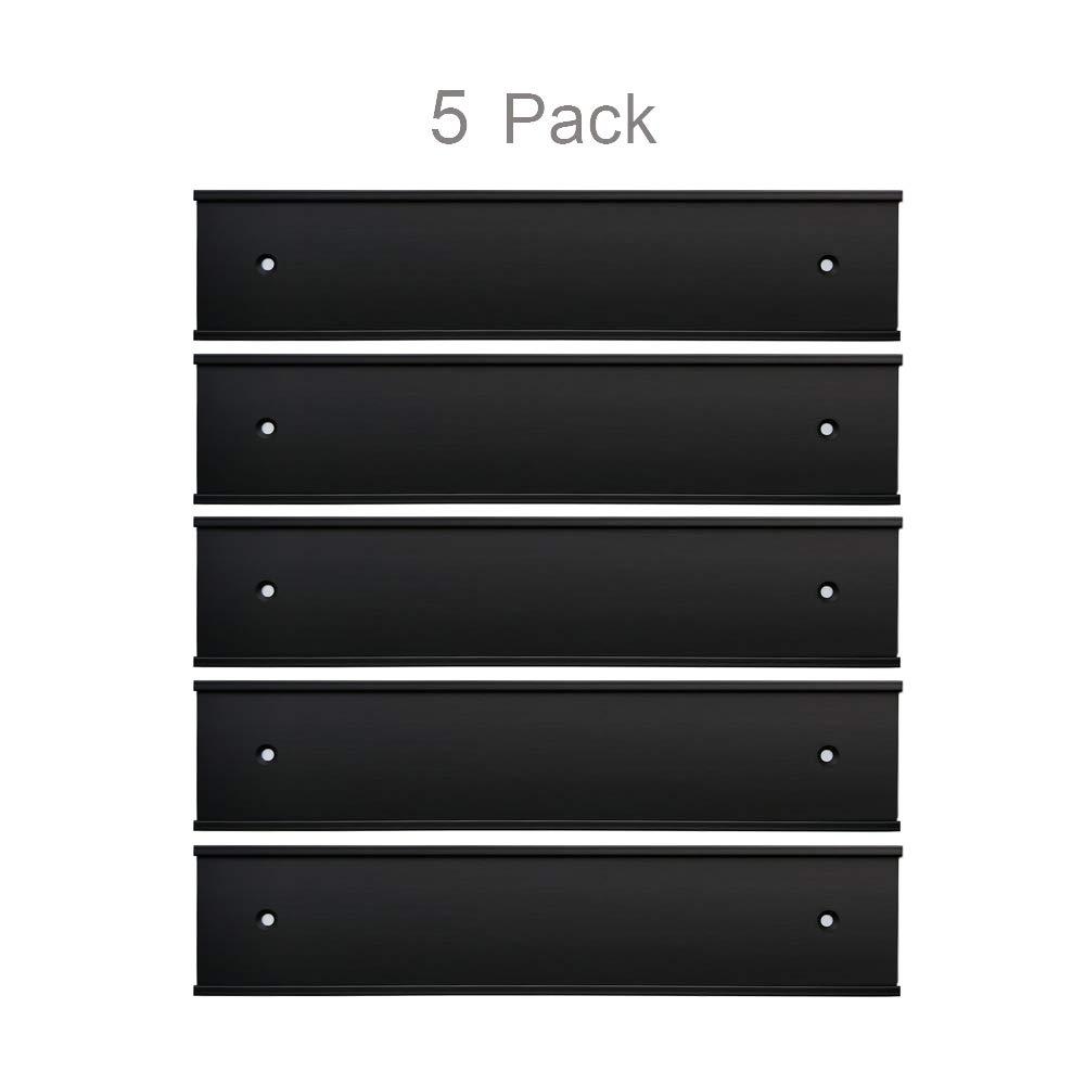 Nameplate Holder Wall or Door 5Pack (Black, 2'' × 8'')