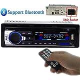 Polarlander Car Radio Audio USB/SD/MP3 Player Receiver Bluetooth Hands-free with Remote Control Black 1 Din
