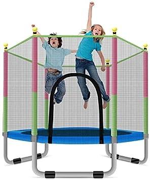 Fitness Trampolín con Cama elástica con recinto de la seguridad neto, al aire libre Jardín JumpingBed Salto Mat y la primavera de la cubierta del acolchado interior al aire libre mini trampolines for