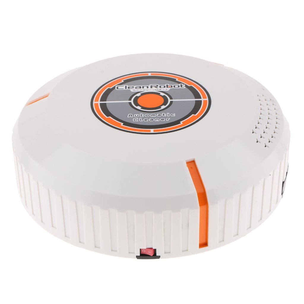 D DOLITY Auto Smart Cleaning Robot Vacuum Cleaner Automatic Dust Sweeper White AAA Power Good for Pet Hair, Carpets, Hard Floors