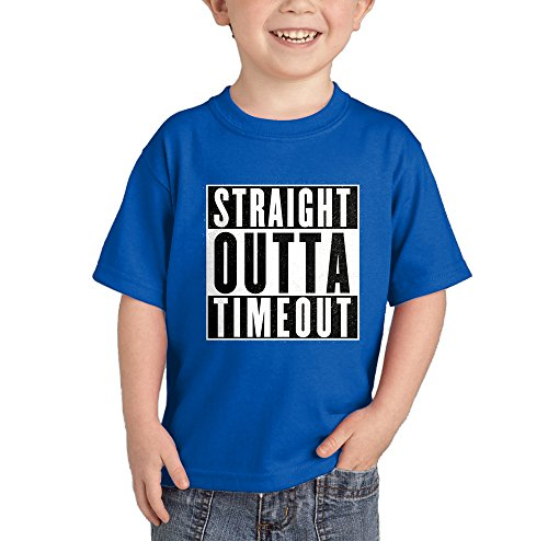 (HAASE UNLIMITED Straight Outta Timeout T-Shirt (Royal Blue, 5T))