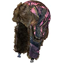 Best Winter Hats Adult Tree Camouflage Russian/Hunters Cap W/Soft Faux Fur