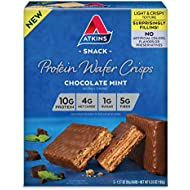 Atkins Protein Wafer Crisps, Chocolate Mint, 5 Count