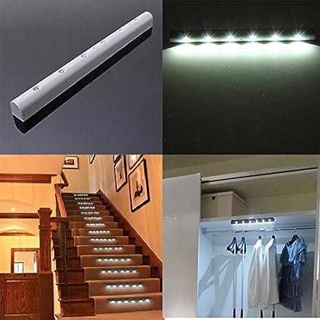 closet lighting wireless. Lights \u0026 Lighting - Wireless Vibration Sensor 6 Bright Led Battery Powered Night Cabinet Light Closet