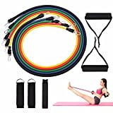 Liibot Sport Yoga Elastic Bands Exercise Band 11 Sets of Natural Rubber Latex Resistance Band And Practical Yoga Fitness Rally Set