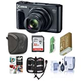 Canon PowerShot SX730 HS Digital Point & Shoot Camera, Black - Bundle 32GB SDHC Card, Camera Case, Spare Battery, Cleaning Kit, Memory Wallet, Card Reader, Software Package