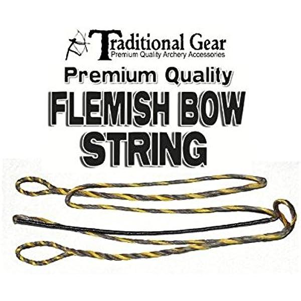 """B50 51/"""" 55 Amo Récurve Bow String 14 brins Dacron traditionnel"""
