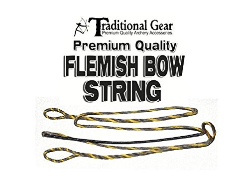 Dacron Bowstring - FLEMISH B-50 Dacron REPLACEMENT RECURVE BOWSTRING - BOW STRING - ACTUAL STRING LENGTH - By Trad Gear Archery Products (Multiple Sizes) (54