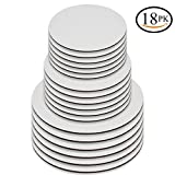 Upper Midland Products Cake Boards - Set of 18 White Cake circle bases - 6 inches, 8 inches, and 10 inches, 6 of Each(18)