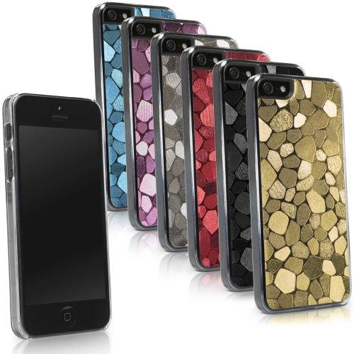 BoxWave LuxePave iPhone 5 (Kunststoff-Handyschutzcover/Case, Mosaik-Design, für Apple iPhone 5 (Black Diamond)