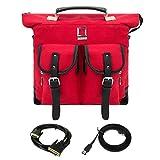 Lencca Water Resistant Weekender Backpack Shoulder Bag Briefcase For Acer 15.6'' Laptop & 10ftDVI- VGA Transfer&5ftSATAE-SATATransitionCable
