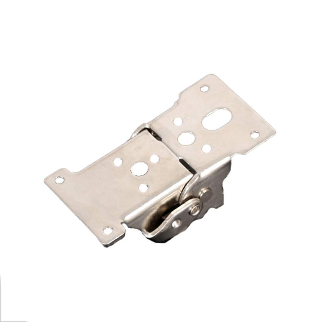 LEZDPP 90 Degrees 180 Degrees Self-Locking Folding Hinge Hinge Table Legs Foot Furniture Hardware Connector Fittings Buckle (Color : Silver, Size : 2pcs) by LEZDPP