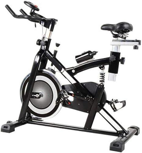 HLEZ Bicicleta Spinning dinámica Profesional, Sistema de amortiguación Silenciosa Ergonómica Sillín Deportivo Manillar triatlón Pantalla LCD y Resistencia Variable,Blanco: Amazon.es: Deportes y aire libre