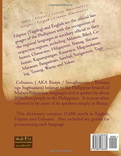 English / Filipino / Cebuano Dictionary (Words R Us Bi-lingual
