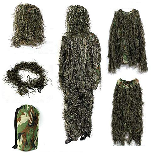 Best Ghillie Suit Camos - Yeemo Ghillie Suit Camo Woodland Forest