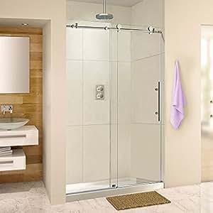 Frameless Sliding Shower Door 44 48 Width 76 Height 38 10