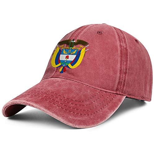 Rkouquhuaqi Unisex Colombia National Emblem Denim Hat