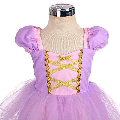 Dressy Daisy Girls Princess Rapunzel Dress Costumes for Little Girls Halloween Fancy Party Dress Size 6 by Dressy Daisy (Image #3)