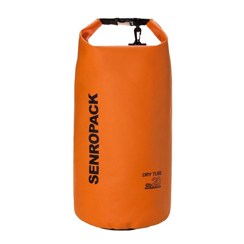 防水ドライバッグカヤック、ビーチ、ラフティング、ボート、ハイキング、キャンプ、釣りby Earth オレンジ 20L B01LZ3S4SB