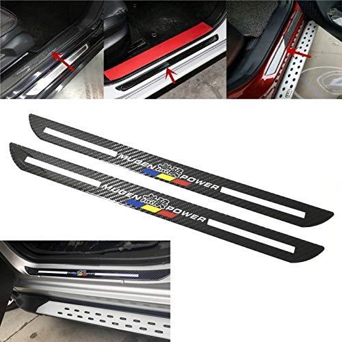 Mugen Car Scuff Plate Door Sill Cover Panel Step Protector Guard 48.5CM Carbon Fiber - Carbon Mugen Fiber