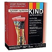 Kind Bars, Honey Roasted Nuts and Sea Salt, Gluten Free, Low Sugar, 1.4oz