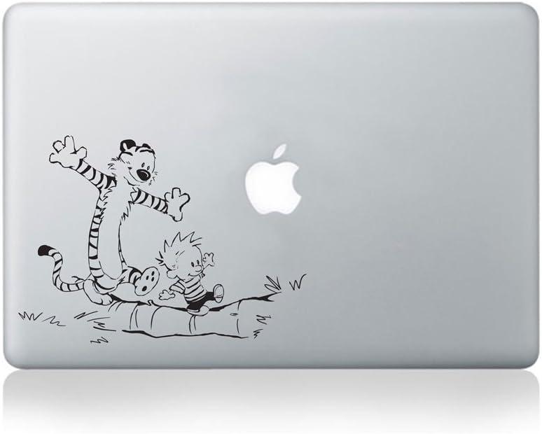 Calvin and Hobbes Walking on Log Vinyl Sticker for MacBook (13-inch MacBook and 15-inch MacBook) / Laptop/Guitar