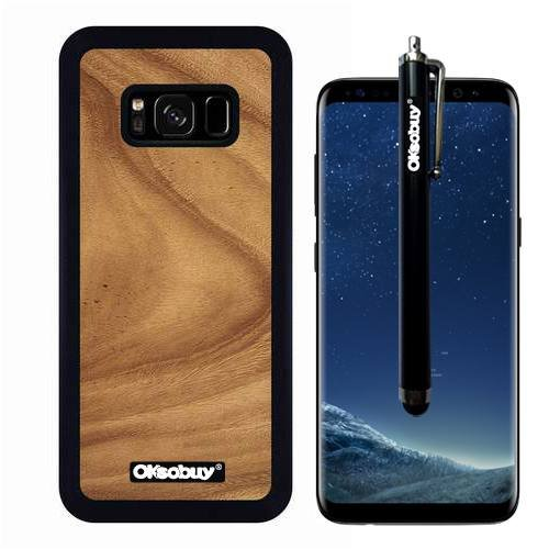 Galaxy S8 Case, The Wave Walnut Wood Texture Case, OkSoBuy Ultra Thin Soft Silicone Case for Samsung Galaxy S8 - The Wave Walnut Wood Texture - Walnut Elm