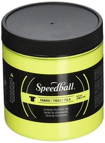 Ink Art Screen Printing - Speedball Art Products Fabric Screen Printing Ink Fluorescent, 8 oz, Yellow