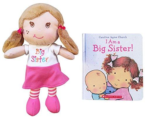 I Am a Big Sister Doll and Book Bundle (Sister / Church)