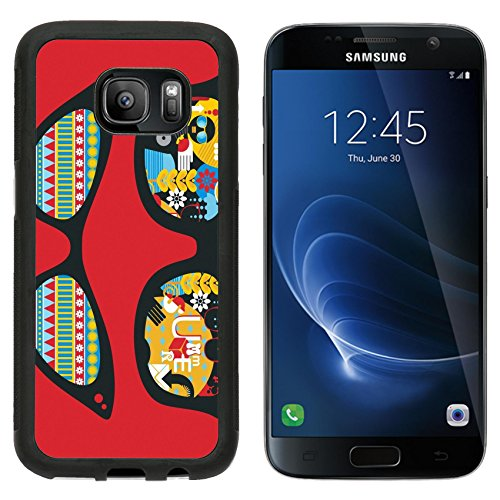 MSD Premium Samsung Galaxy S7 Aluminum Backplate Bumper Snap Case IMAGE ID: 13285325 Retro sunglasses with summer reflection in - Exotic Eyeglass Frames