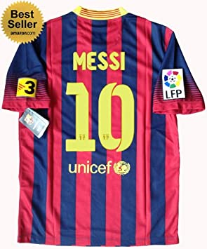 bae2e2c51 NEW 2013-14 BARCELONA HOME MESSI  10 SOCCER JERSEY FOOTBALL SHIRT (UK  MEDIUM)  Amazon.co.uk  Sports   Outdoors