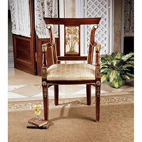 Design Toscano British Colonial Plantation Fabric Arm Chair