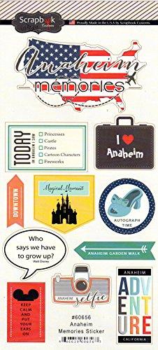 Anaheim California Adventure Cardstock Scrapbook Stickers - Adventure Anaheim