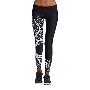 Logobeing Mallas Deporte Mujer Leggins Pantalones Deportivos Elásticos de Cintura Alta Leggings Yoga Running Pantalón de Fitness Pantalones ...