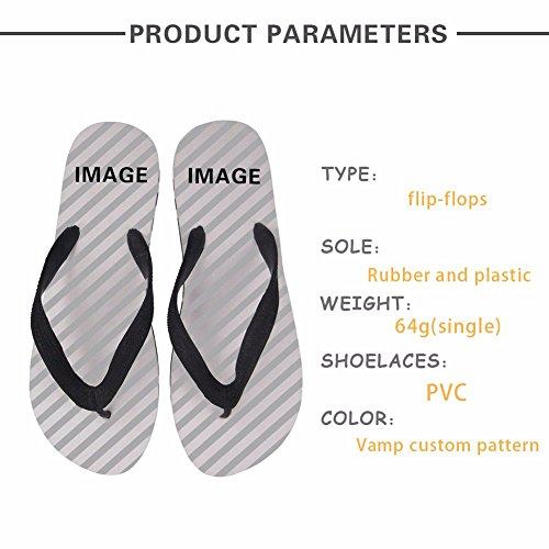 Non ZHOUZJ Female Women Rubber 3D Light Slippers C0522AB Flip Slip Flops Printing Beach nfZYZqpr