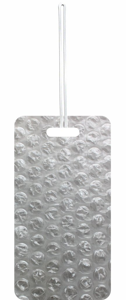 Bubble Wrap Print Max Wilder TM Set of 8 Luggage Tags with Customizable Back
