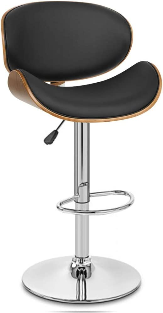 VKTY Swivel Bar Stools With Backs Set of 2, Counter Height Bar Stools Vinyl Cushioned Adjustable Bar Stools with Back Kitchen Modern Counter Stools Dining Chairs (1PCS) 2pcs