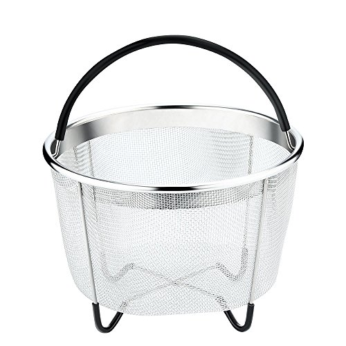 Vanghon Instant Pot Accessories 6 qt Steamer Basket, Eggs Vegetable Steamer Basket for Instant Pot Pressure Cooker with Non-Slip Legs, Food Grade Stainless Steel Steamer(Instant Pot 6 Quart) by Vanghon