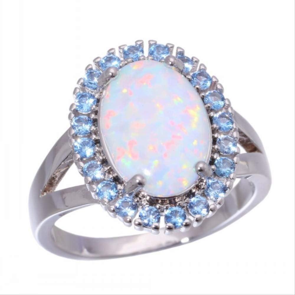 Hao Sou Anillo De Mujer Elegante Y De Moda, Anillo con Piedras Preciosas Y Diamantes De Colores, Anillo De Dedo Versátil