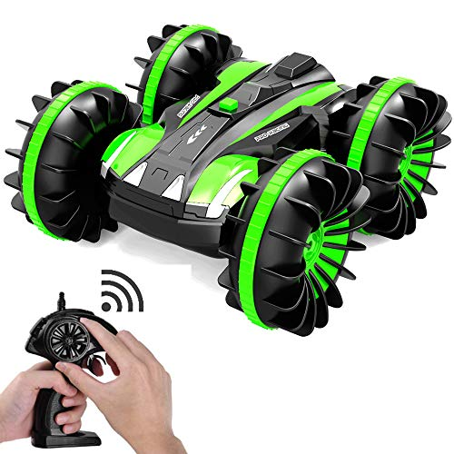 Stunt Remote Control Car RC Boats 4WD Radio Controlled Off Road Trucks Waterproof Vehicles for Kids 360 Spins/Double Sided/Amphibious