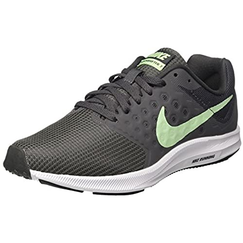 Nike WMNS Downshifter 7, Sneakers Basses Femme, Gris (Anthracite/Fresh Mint-Dark Grey-White), 40.5 EU
