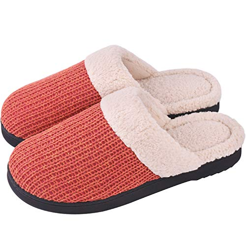 Shoes Foam Knit Pink Cotton Snug Wool Like House Leaves Anti Outdoor Memory Wome's Skid Cozy Indoor Slippers Fqqx1zZa