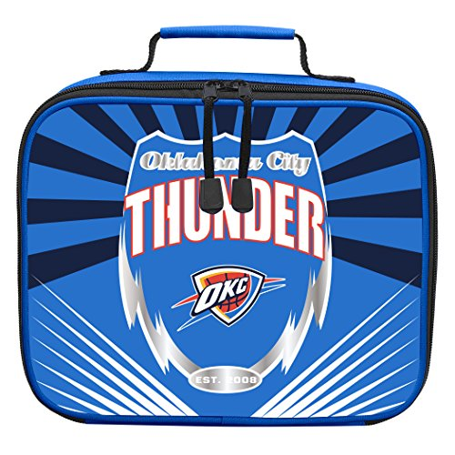 y Officially Licensed NCAA Oklahoma City Thunder Lightning Kids Lunch Kit, Blue ()
